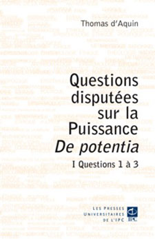 Questions Disputées De Potentia
