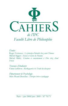 Cahier n°70-71