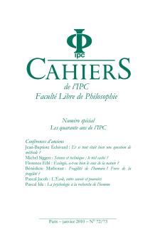 Cahier n°72/73