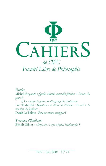 Cahier n°74