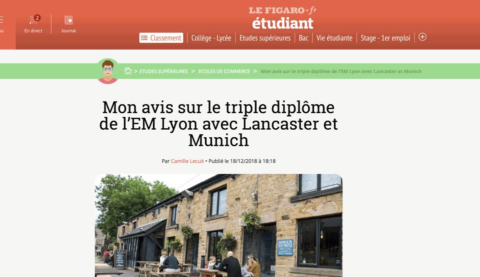 Après l'IPC... un Master à l'EM Lyon