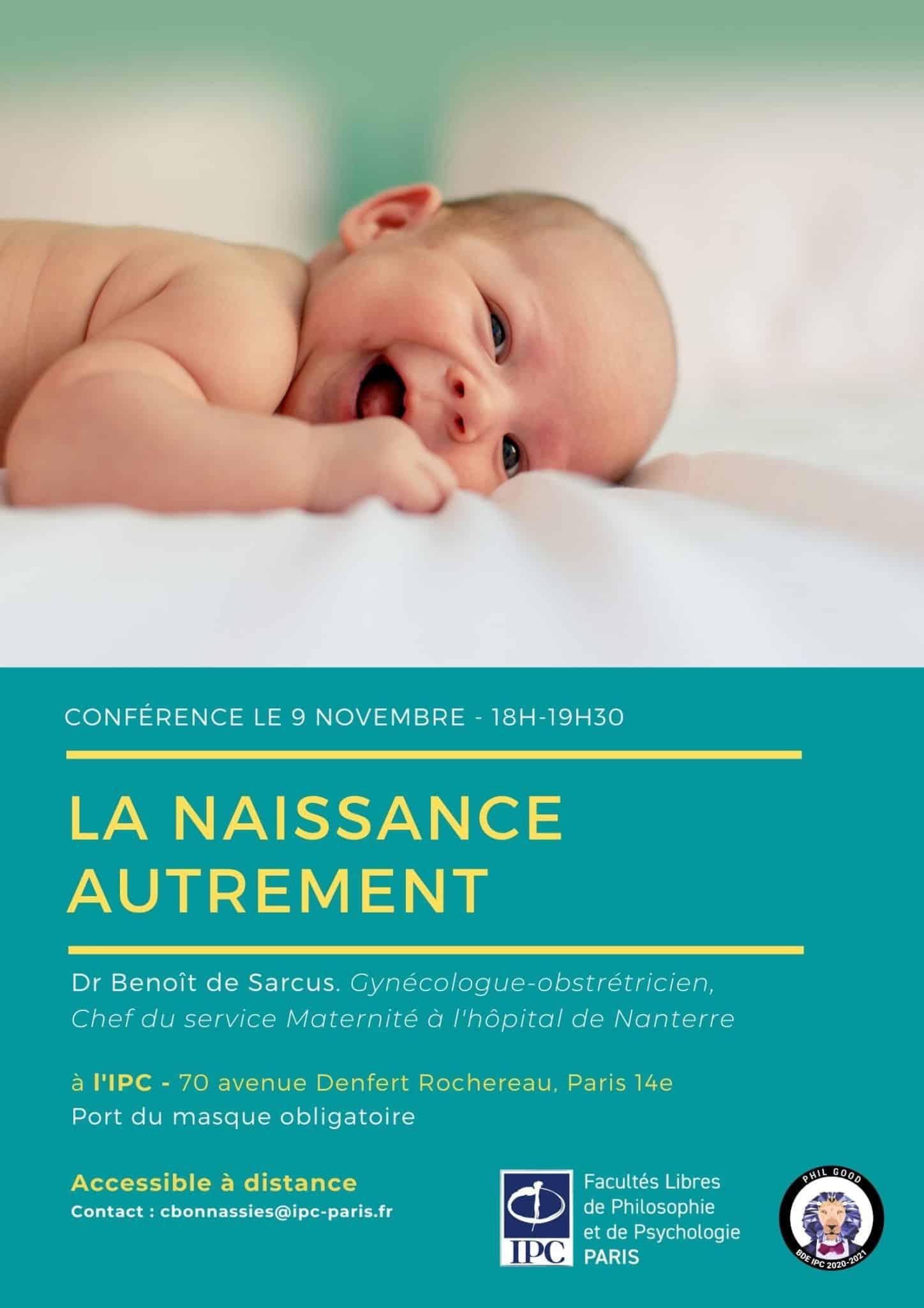 Affiche Conférence La naissance autrement