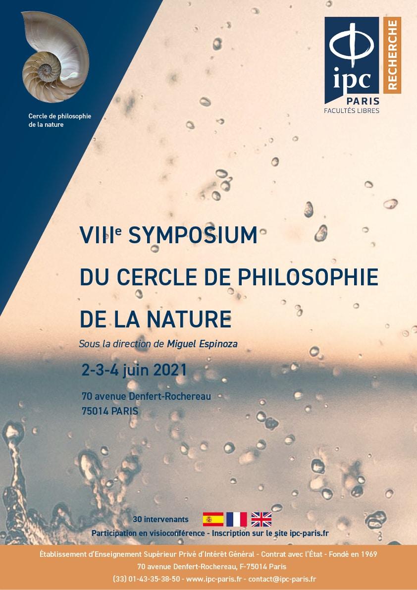 VIIIe Symposium du cercle de philosophie de la nature_affiche
